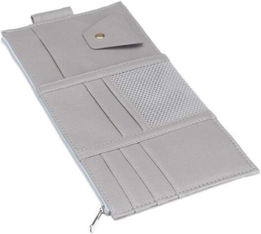 unverzichtbares Geschenk f/ür jeden Fahrer grau Organizer f/ür Lichtschranke und Sonnenschutz Aufbewahrungstasche mit Rei/ßverschluss waysad Auto-Sonnenblende