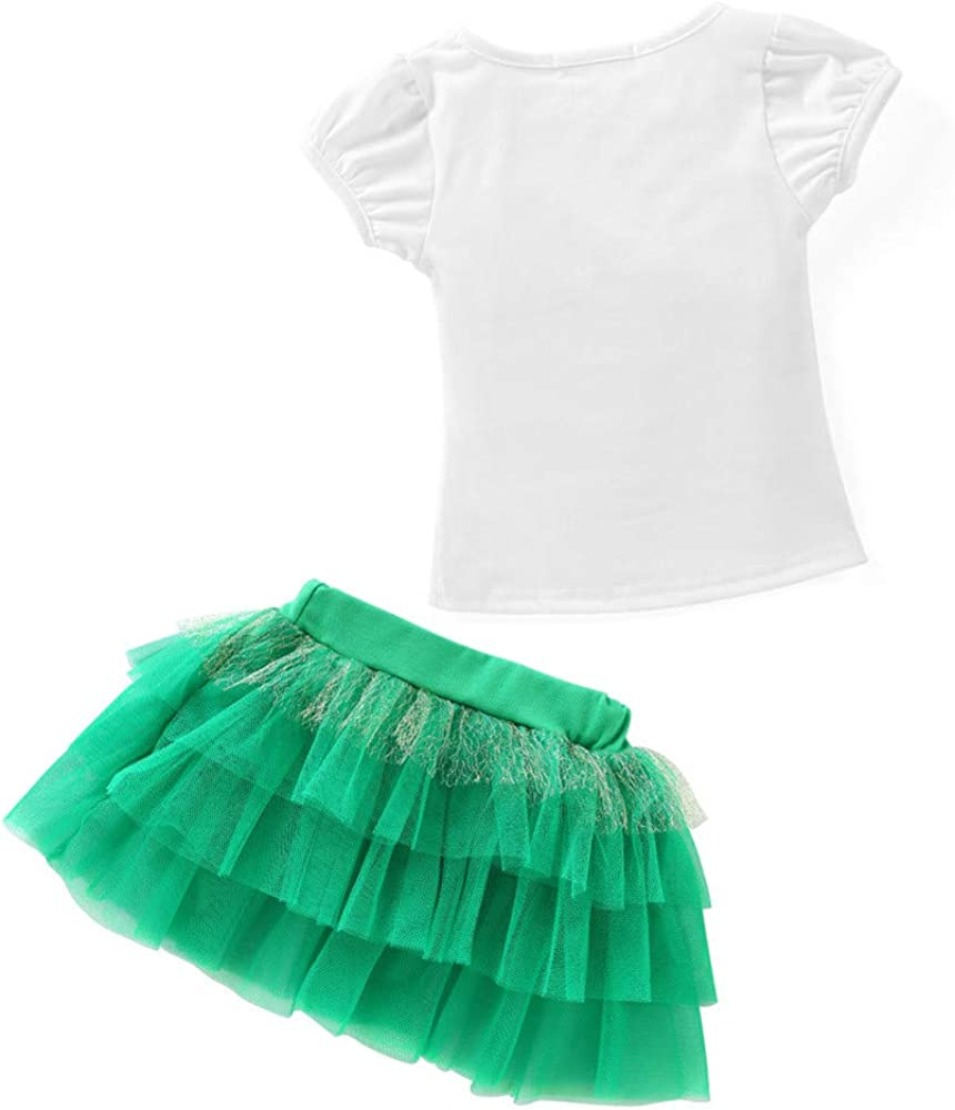 Yowablo S/äugling Baby Kinder M/ädchen 3D EIS T-Shirt Tops Tutu Rock Outfits Set