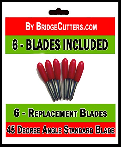 - Standard Replacement 45 Degree Angle Cutting Blades for Craft Cutting Machines Compatible with Bridge Cricut Air Expression 2 Explore Maker Refine Cutters Includes 6 Blades