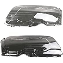 Arotom Fit for 1998-2002 BMW 3 Series E46 2 Door/M3 2001-2006 Headlight Lens Plastic Covers Left + Right PAIR