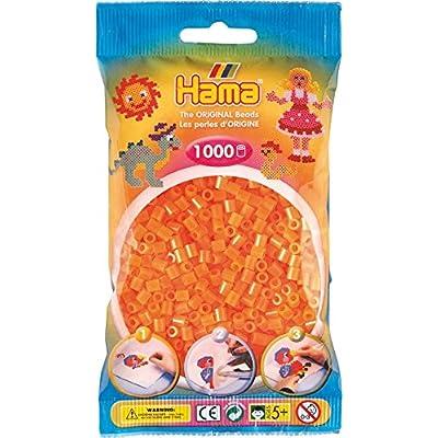 1 000 perles standard (Ø5 mm)- orange néon - Hama