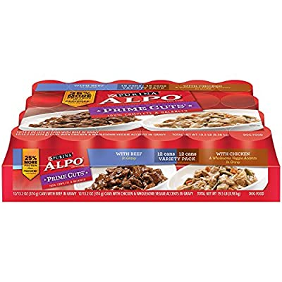 Purina Alpo Prime Cuts In Gravy Wet Dog Food, 24-Pack