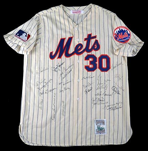 1969 Mets World Series Champs Team Signed Jersey Nolan Ryan & Tom Seaver COA - JSA Certified - Autographed MLB Jerseys