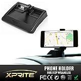Xprite Adjustable Dash Multi-Mount Phone Holder Kit For Jeep Wrangler JK JKU 2007-2010