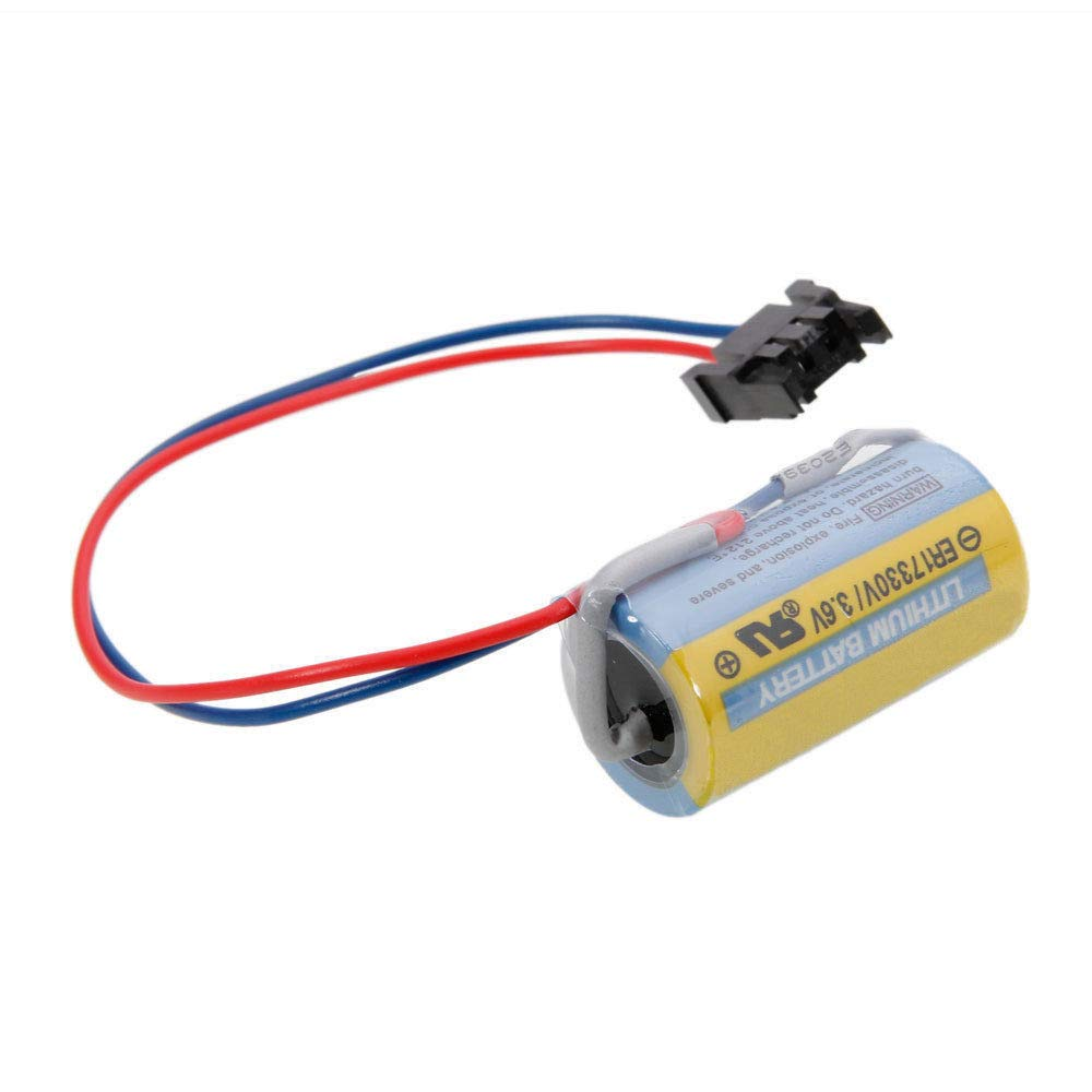 Mitsubishi A6BAT ER17330V 3.6V 2000mAh Lithium Industrial Battery w/Plug by EM