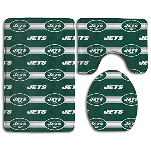 - Sorcerer Custom Colorful Doormat American Football Team New York Jets Indoor Bathroom Anti-Skid Mats,3 Piece Non-Slip Bathroom Rugs,Non-Slip Mat Bath + Contour + Toilet Lid