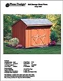 6' X 8' Saltbox Storage Shed/playhouse Plans -Design #70608