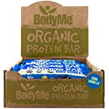 BodyMe Organic Vegan Protein Bar | Raw Chia Vanilla | Box of 12 x 60g (2.12oz) | with 3 Plant Proteins