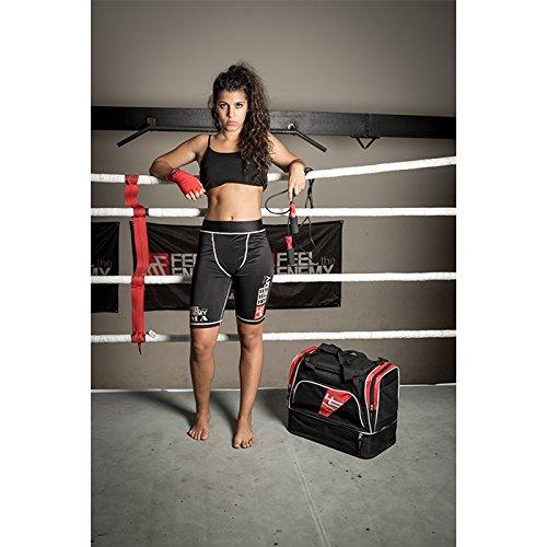 KRF Feel The Enemy 0016086Business-Tasche für Fitness und Krafttraining, Unisex Erwachsene, schwarz, Einheitsgröße