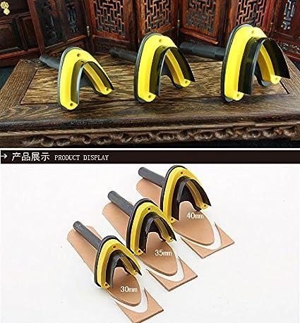 BAVER Steel Type V Style Corner Round Punch Leather Craft Tools Handwork Belt DIY 30mm