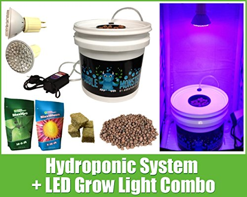 $54.99 Hydroponics Kits Hydroponic System LED Combo – Complete Grow System – Hydroponic Kit 2019