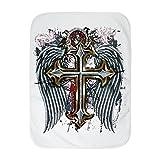 Royal Lion Baby Blanket White Cross Angel Wings