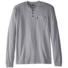 Key Apparel Men's Big-Tall 3-Button Long Sleeve Henley Pocket T- Shirt