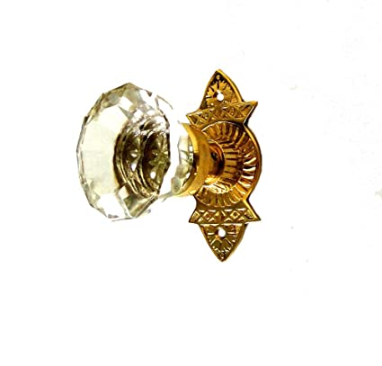 070763f3c3f Victorian Reproduction Door Hardware Passage Set with Latch Glass Knobs - -  Amazon.com
