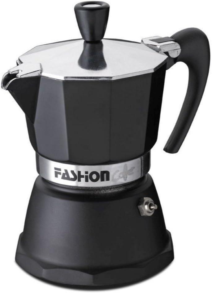 GAT Italy - Cafetera Italiana de 2 Tazas (Aluminio, 8 x 14 x 15 cm), Color Negro: Amazon.es: Hogar