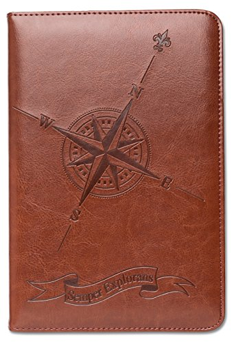 Compass Journal, Personal Diary, Writing Journal, Lined Journal, Travel, A5 Notebook, Writers Notebook, Faux Leather, Refillable, Fountain Pen Safe, Nautical, Gift for Men or Women, Sewn - Mans Journal