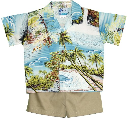 RJC Boys Paradise Island Surf 2pc Set Blue 2T by RJC