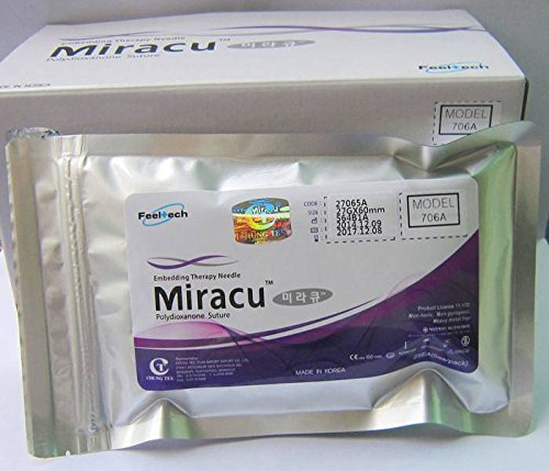 25 Pieces/ 1 pack Miracu PDO Thread Lift Korea Face Whole Body Cog