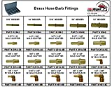 Brass Hose Barb Fittings in 20 Hole Metal Tray