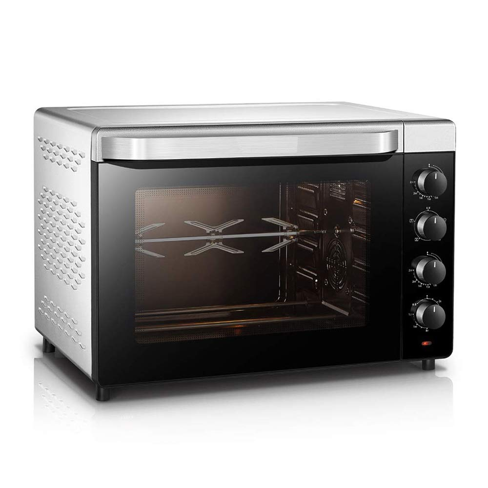 CMmin Convection Electric Benchtop Oven,With Flip-Away,for Storage Multi-Purpose Counter-top Convection Oven,52 Liter Capacity,Multiple Cooking Modes,Silver