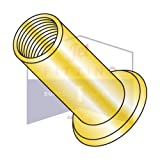 M8-1.25X7.00 Large Flange Blind Threaded Inserts | Flat Head | METRIC | Open-End | Low Carbon Steel | Zinc Yellow Plated | Non-Ribbed (QUANTITY: 1000)