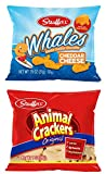 Stauffer's Original Animal Crackers and Stauffer's Cheddar Whale Cheese Crackers - Individual Packaged Snack Packs, 1 oz. each - 10 of each flavor (Set of 20)