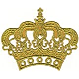 Bestellmich - Parche termoadhesivo, diseño de corona, color dorado