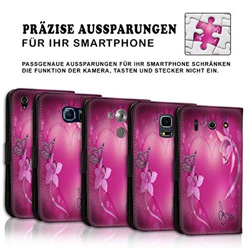 Wallet Book Style Flip Handy Tasche Case Schutz Hülle Schale Motiv Etui für Apple iPhone 6 / 6S - Design Flip MVD426