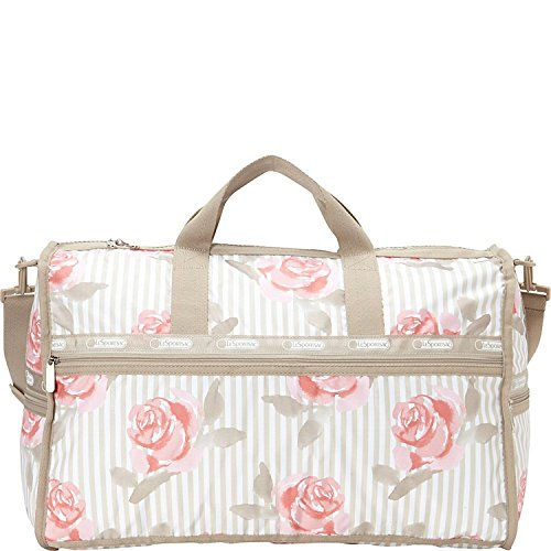 LeSportsac Large Weekender Duffel Bag (Pink Rosy Dreams) by LeSportsac