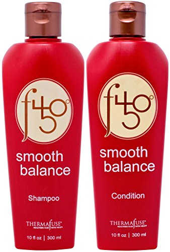Thermafuse f450 Smooth Balance Shampoo & Conditioner (10 oz) Aftercare For Keratin Smoothing & Straightening Treatments. Sulfate Free, Vegan, Cruelty Free Formula Repairs Damaged Hair On Men & Women ()