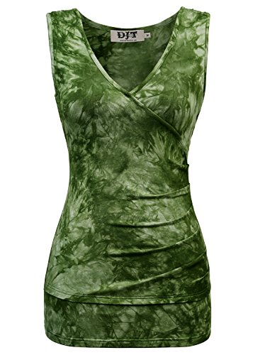 DJT Womens Neck Faux Ruched