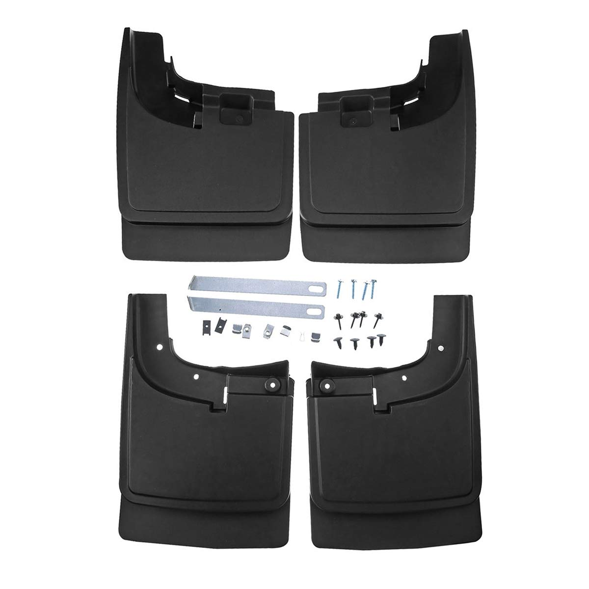 A-Premium Splash Guard Mud Flaps for Ford F-250 F-350 F-450 F-550 Super Duty 2017-2018 without Factory Fender Flares