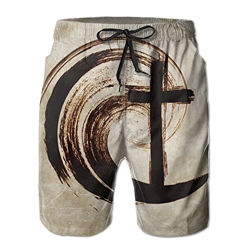 DELIDAA Regeneration Church Men's Boy's Casual Quick-Drying Beach Pant Swim Surf TrunksXX-Large by DELIDAA