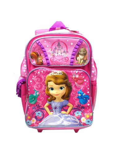 """Price comparison product image Disney Princess Sofia the First Fairy Large 16"""" Rolling Backpack"""