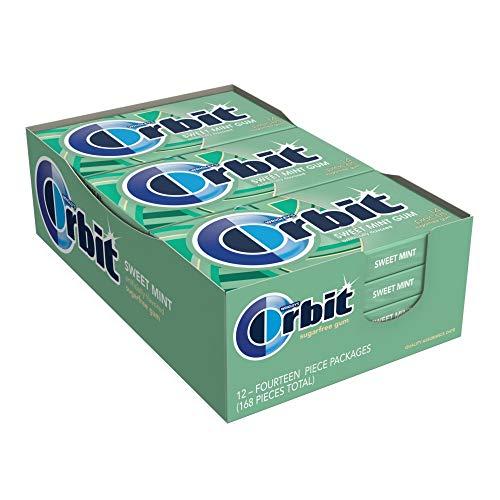 Orbit Sweet Mint Sugarfree Gum in a 14-count pack, 12 packs by Orbit Gum