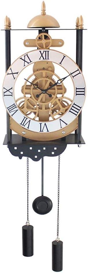 壁掛け時計 振り子時計ヨーロッパのリビングルーム20 * 11 * 38(cm)をハンギングバードケージモデルギア振り子時計ファッションウォールクロックアート JPLLYY