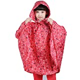 Portable Rain Poncho,Cartoon Kids Teens Emergency Raincoat With Waterproof Hood Sleeves for Boys Girls Reusable Hooded Rain Poncho Coat Jacket Survival Gear Kit for Camping Hiking Travel School Picnic
