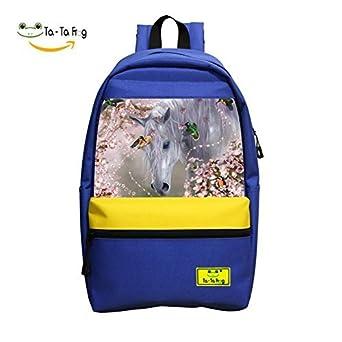 Amazon com | Student School Bag Cool Horse Special 3D Print