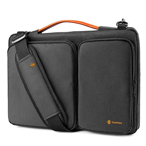 tomtoc 360 Protective Laptop Shoulder Bag for 13.3 Old MacBook Air, Old MacBook Pro Retina 2012-2015, Microsoft Surface Laptop, Surface Book, Ultrabook Case Bag withAccessory Pocket