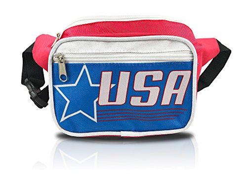 nineteen80something USA Fanny Pack/Patriotic Waist Bag/Hip Fashionable (American Flag Retro -