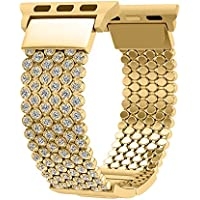 Fresheracc Compatible with Apple Watch Band 38mm 40mm Women, Compatible for iWatch Bands iPhone Watch Series 4 3 2 1, Sport, Hermes, Nike, Crystal Mesh Chain Replacement Straps