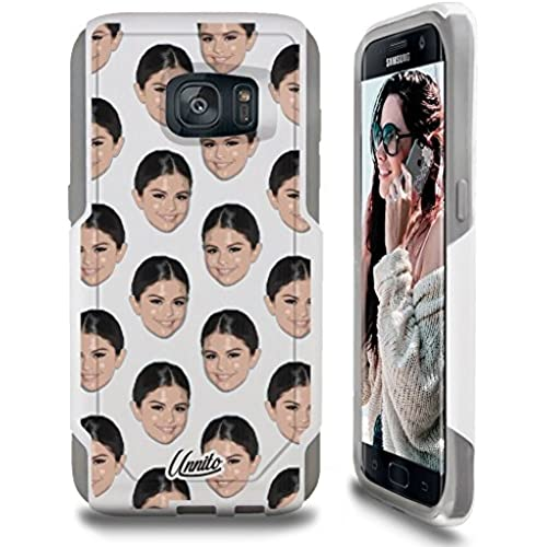 Galaxy S7 Case Unnito [Custom] Dual Layer - Shock Protection [Hybrid Cover] - ( White - Selena ) Sales