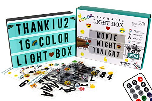 Color Changing Cinema Light Box Letters-Modern Cinematic Light