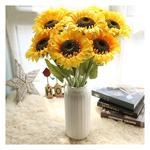 - Artificial Sunflower, Fake Flower Real Touch Bridal Bouquet for Home Wedding Birthday Party Garden Patio Table Centerpieces Arrangements Decorations Flower Saint (1-Piece)