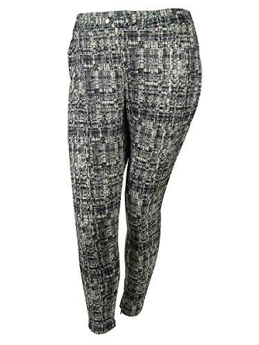Modamix Women's Stretch Blend Pants (2X, Scratch Print)