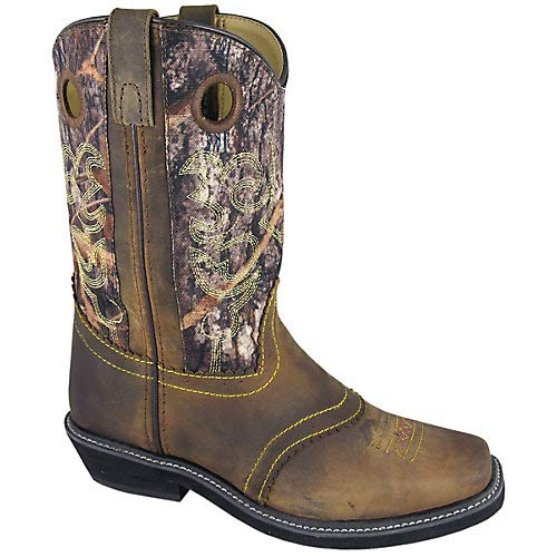 Smoky Mountain Ladies Pawnee Square Toe Boot, Size 8.5, Brown Oil Distress/Camo ()