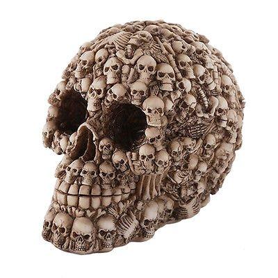 Boneyard Skull Halloween Figurine Human Skeleton Bones Decoration New Pacific Trading