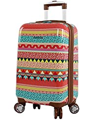 Lily Bloom Hardside Luggage 20 Carry On Design Pattern Spinner Suitcase For Woman