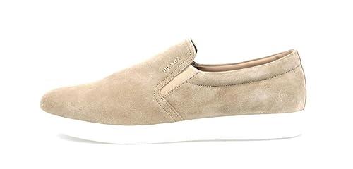 Prada - Mocasines para Hombre, Color Beige, Talla 41.5: Amazon.es: Zapatos y complementos