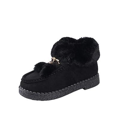 Weatherproof Womens Ankle Winter Snow Boot(Black-36 5 B(M) fe31c74cf